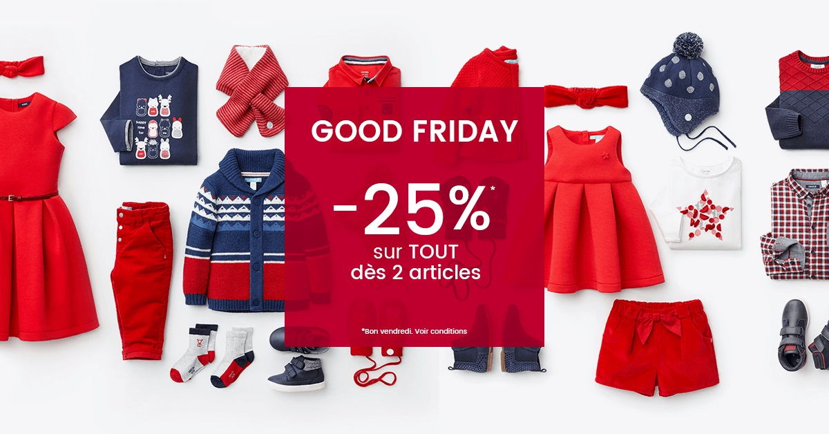 Black Friday vêtements enfant