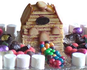 Faire une maison en gateau et bonbon