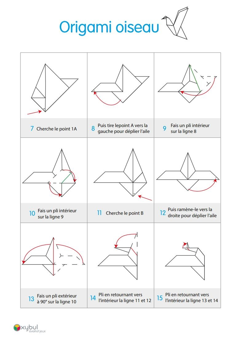 diy origami oiseau fabriquer un oiseau en papier. Black Bedroom Furniture Sets. Home Design Ideas