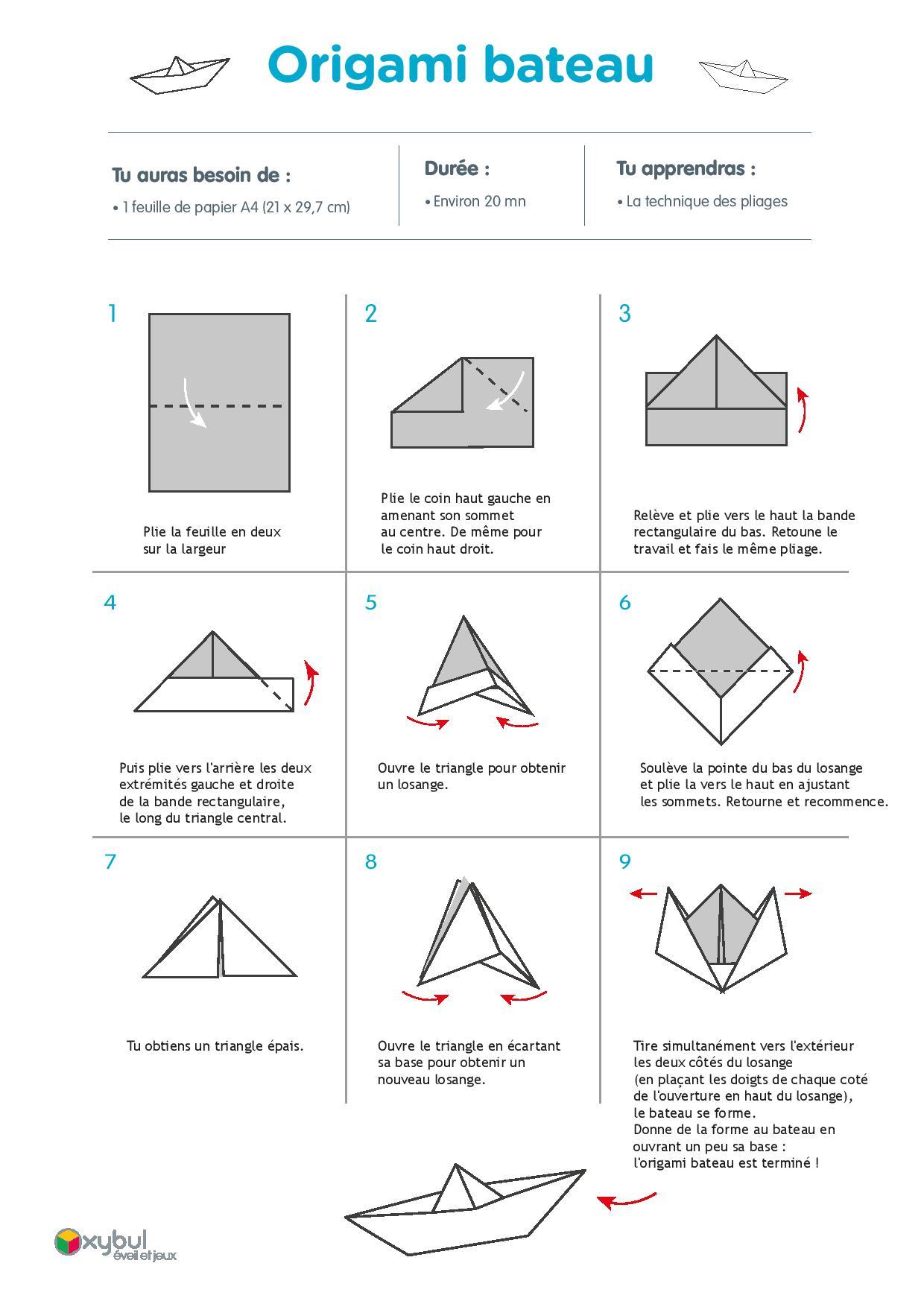 diy origami bateau. Black Bedroom Furniture Sets. Home Design Ideas