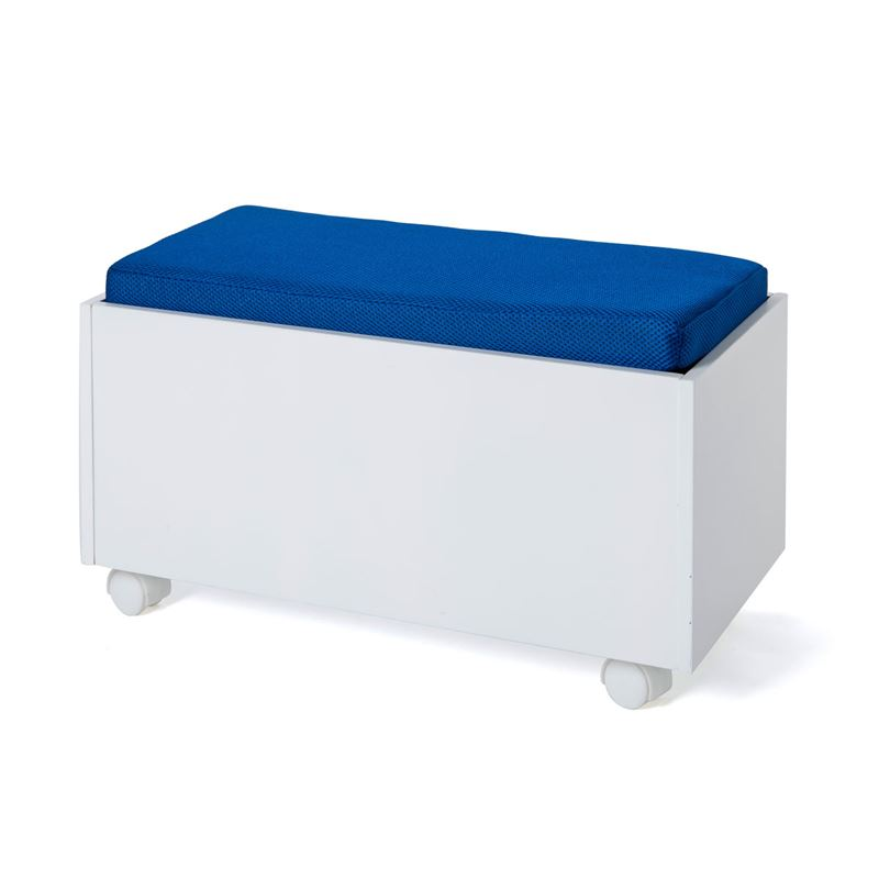 Image sur Banc coffre sur roulettes et son assise bleue Izi Move