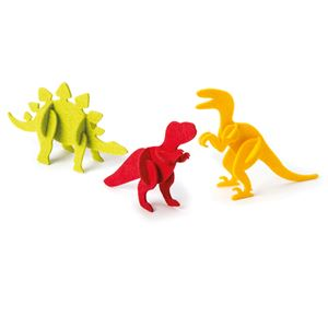 Image de 3 puzzles 3D dinosaures Hop Prêt-à-créer