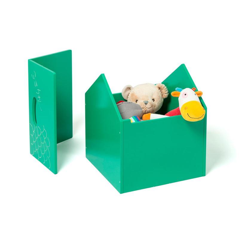 Image sur Coffre de rangement Maison vert