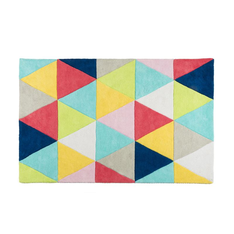 Image sur Tapis graphique triangles multicolores
