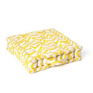 Image de Coussin de sol chevrons jaune