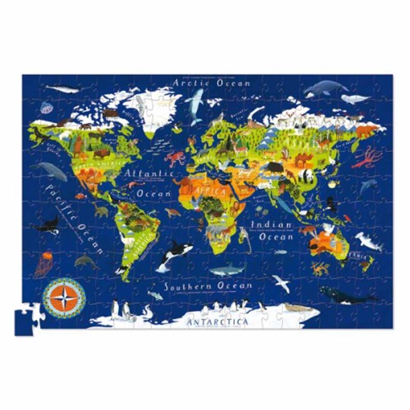 Image sur Puzzle géant le monde avec son poster 200 pièces