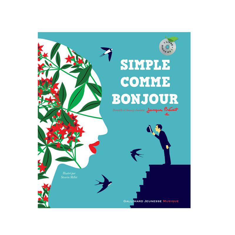 Image sur Livre-CD Simple comme bonjour Domitille et Amaury chantent Prévert