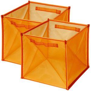 Image de 2 cubes magiques translucides orange
